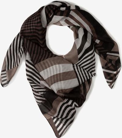 Ulla Popken Tuch in grau / schwarz / weiß, Produktansicht