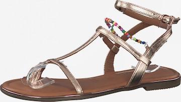 TAMARIS Strap sandal in Gold