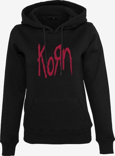Merchcode Sweatshirt 'Korn' in red / black, Item view