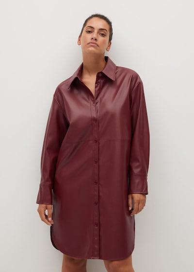 VIOLETA by Mango Kleid in rubinrot, Modelansicht