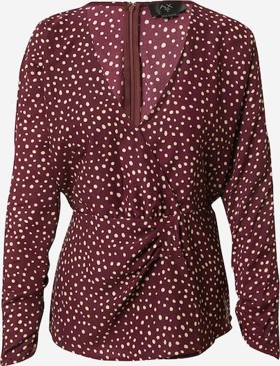 AX Paris Bluse in weinrot / weiß, Produktansicht