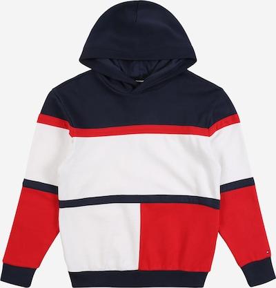 TOMMY HILFIGER Sweatshirt in navy / hellrot / weiß, Produktansicht