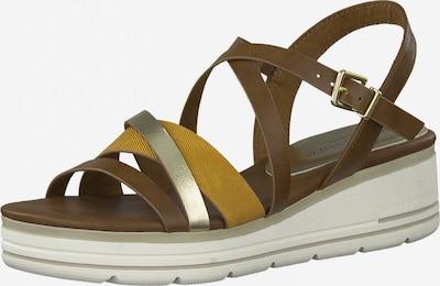 Sandale cu baretă Earth Edition by Marco Tozzi pe maro / galben / galben muștar, Vizualizare produs