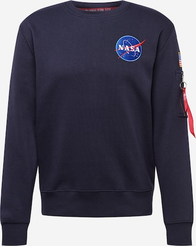 ALPHA INDUSTRIES Sweatshirt 'Space Shuttle' i blå / koboltblåt / rød / hvid, Produktvisning