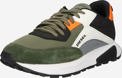 DIESEL Sneakers laag 'S-TYCHE' in de kleur Grijs / Olijfgroen / Sinaasappel / Zwart / Wit, Productweergave
