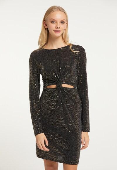 myMo at night Kleid in gold / schwarz, Modelansicht