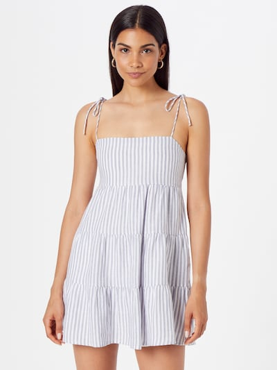 Abercrombie & Fitch Kleid in hellblau / weiß, Modelansicht