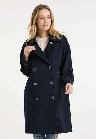 DreiMaster Vintage Between-Seasons Coat in Blue