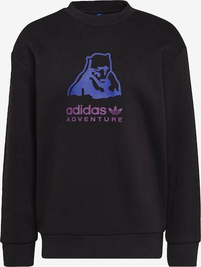 ADIDAS ORIGINALS Sweatshirt in blau / lila / schwarz, Produktansicht
