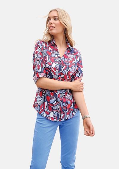 Anna Aura Langarmbluse Bluse in blau / rot, Modelansicht