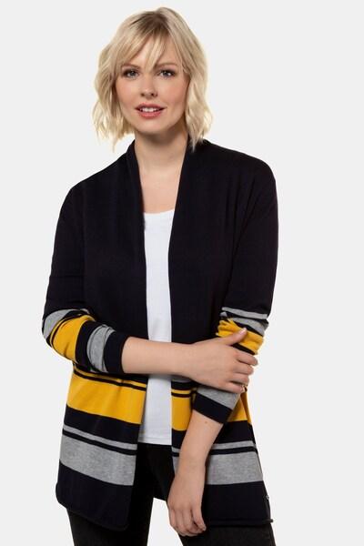 Gina Laura Damen Strickjacke in gelb / grau, Modelansicht
