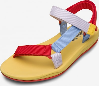 CAMPER Sandalen in blau / gelb / rot, Produktansicht