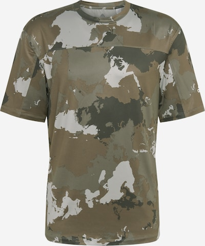 ADIDAS PERFORMANCE Funkcionalna majica | siva / kaki / temno zelena barva, Prikaz izdelka