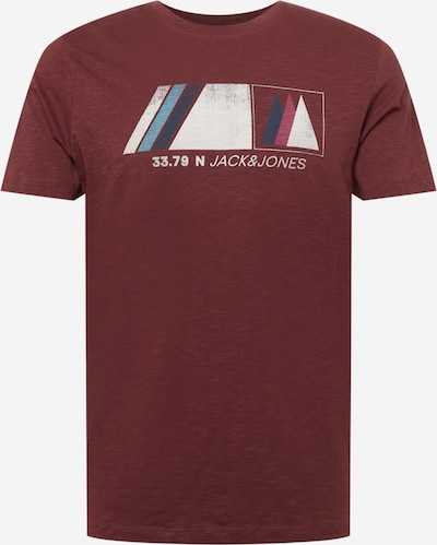 JACK & JONES T-shirt i ljusblå / mörkblå / rosé / mörkröd / vit, Produktvy