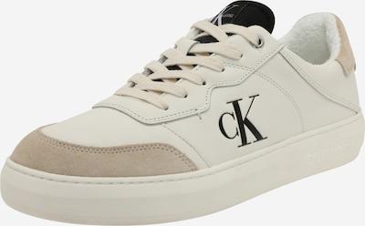 Sneaker low Calvin Klein pe alb kitt / bej deschis / negru, Vizualizare produs