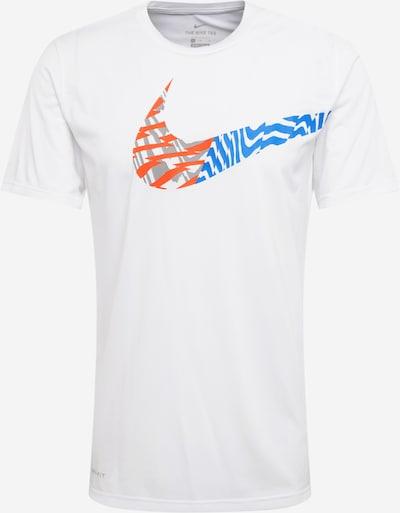 NIKE Funkcionalna majica 'Legend' | modra / siva / temno oranžna / off-bela barva, Prikaz izdelka