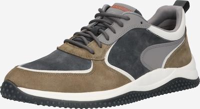 CLARKS Sneaker 'Puxton' in grau / dunkelgrau / oliv / weiß, Produktansicht