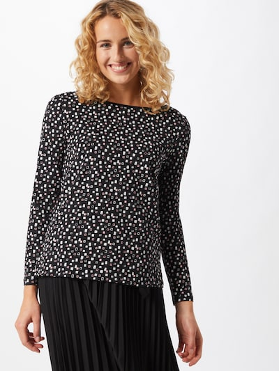 EDC BY ESPRIT Shirt in rosa / schwarz / weiß: Frontalansicht
