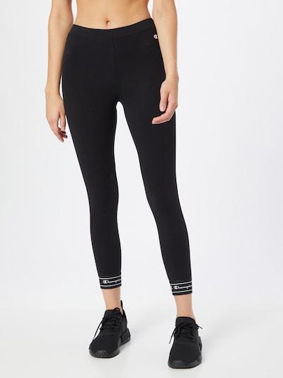 Champion Authentic Athletic Apparel Leggings in feuerrot / schwarz / weiß, Modelansicht