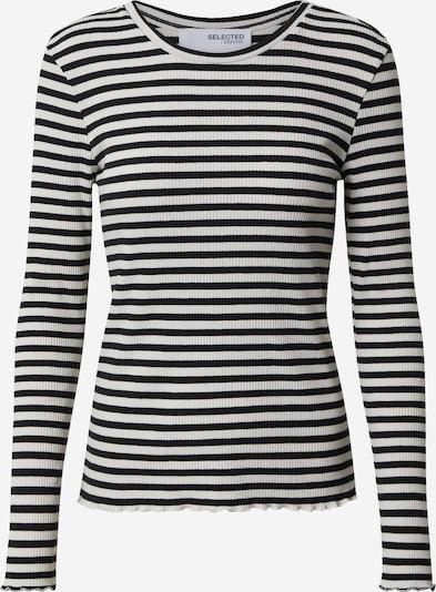SELECTED FEMME Shirt 'ANNA' in schwarz / weiß, Produktansicht