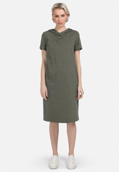 HELMIDGE Kleid in grün / khaki, Modelansicht