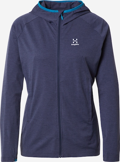 Haglöfs Sports sweat jacket 'Mirre' in Navy / Aqua, Item view