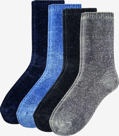 camano Socks in Sky blue / Grey / Black, Item view