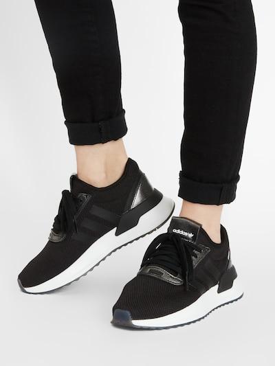 ADIDAS ORIGINALS Sneakers 'U Path' in Black / White: Frontal view