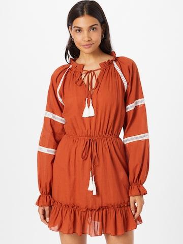 Trendyol Košeľové šaty - Hnedá