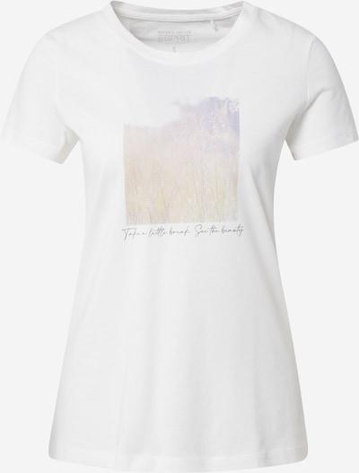 ESPRIT Camiseta en amarillo claro / lila claro / blanco, Vista del producto