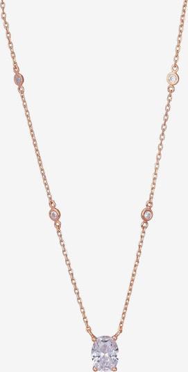 ORPHELIA Kette in rosegold / transparent, Produktansicht