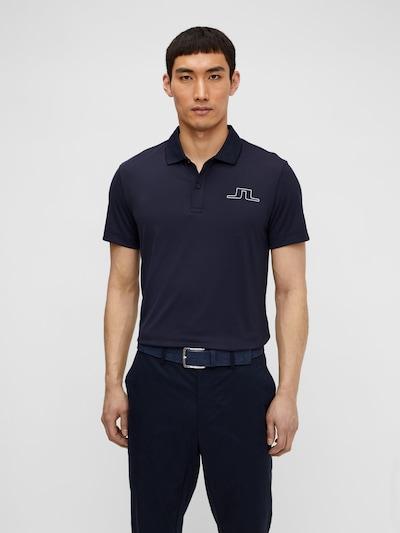 J.Lindeberg Poloshirt in dunkelblau / weiß: Frontalansicht