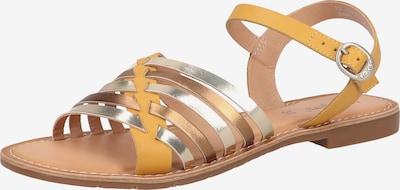 KICKERS Riemensandale in braun / gelb / gold / silber, Produktansicht