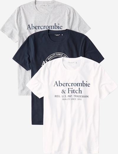 Abercrombie & Fitch Majica | modra / siva / bela barva, Prikaz izdelka