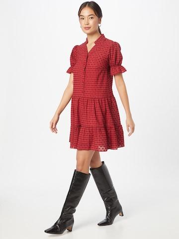 Trendyol Košeľové šaty - Červená
