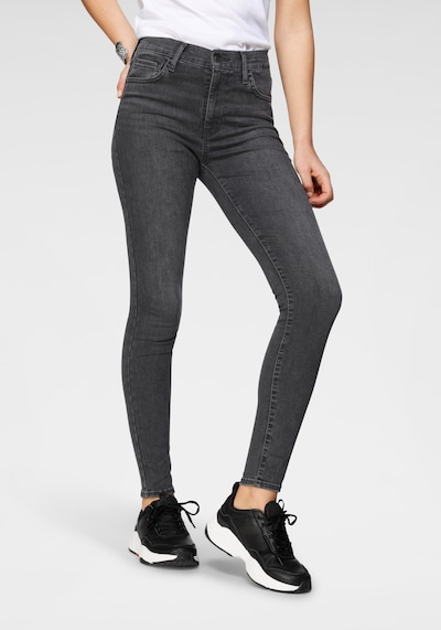 LEVI'S Jeans 'Hirise' in grey denim, Modelansicht
