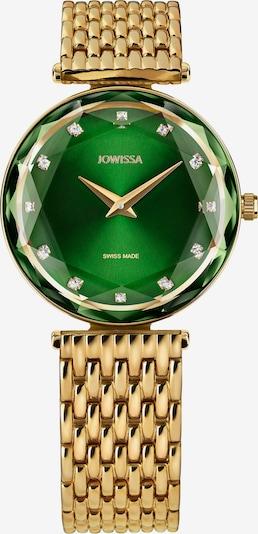 JOWISSA Armbanduhr Facet Brilliant in gold / grün, Produktansicht