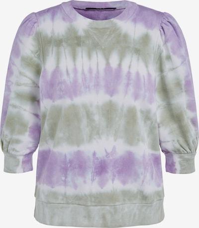 SET Sweat-shirt en vert pastel / violet / blanc, Vue avec produit