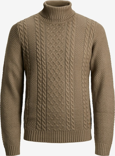 JACK & JONES Pullover in braun: Frontalansicht