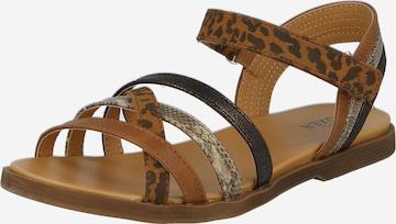 BULLBOXER Sandale in Braun