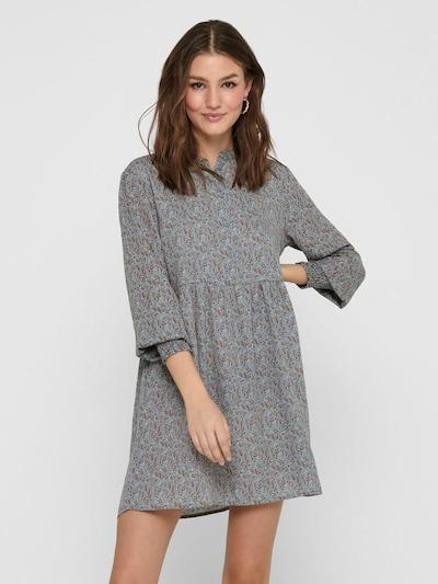 JACQUELINE de YONG Košilové šaty 'CARMEN' - hnědá / kámen / zelená / bílá, Model/ka