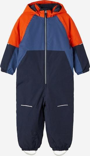 Salopetă 'Snow03' NAME IT pe albastru fumuriu / albastru noapte / portocaliu, Vizualizare produs