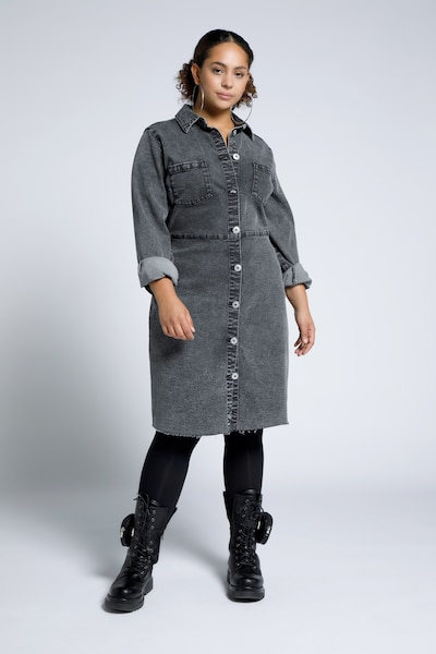Studio Untold Blusenkleid in black denim, Modelansicht