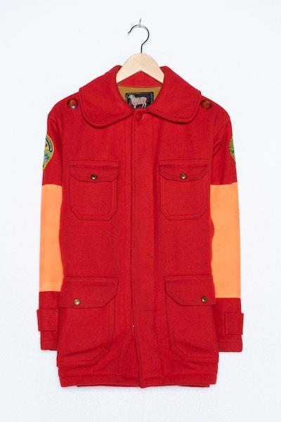 Woolrich Wollmantel in XL in rot, Produktansicht
