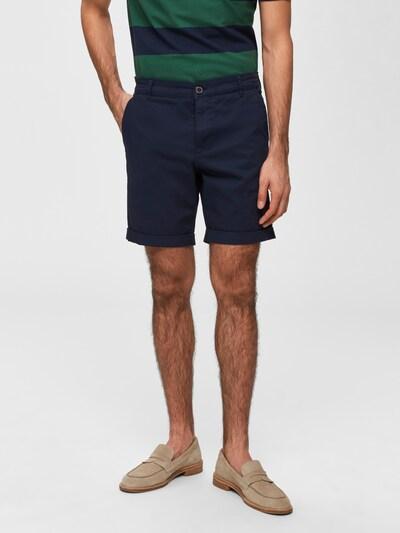 SELECTED HOMME Pantalon en bleu foncé, Vue avec modèle