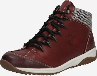 RIEKER Chaussure à lacets en gris / rouge, Vue avec produit