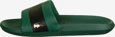 LACOSTE Mule 'Croco ' en vert foncé / noir, Vue avec produit