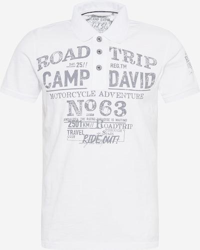 CAMP DAVID Shirt in grau / weiß, Produktansicht
