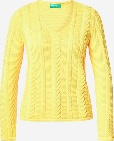 UNITED COLORS OF BENETTON Pull-over en jaune, Vue avec produit