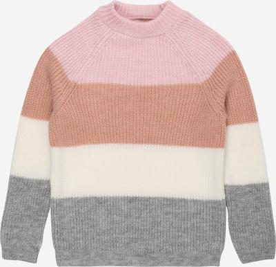 KIDS ONLY Pullover 'JADE' in graumeliert / apricot / rosa / wollweiß, Produktansicht